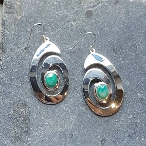Celtic Spiral Russian Amazonite Earrings