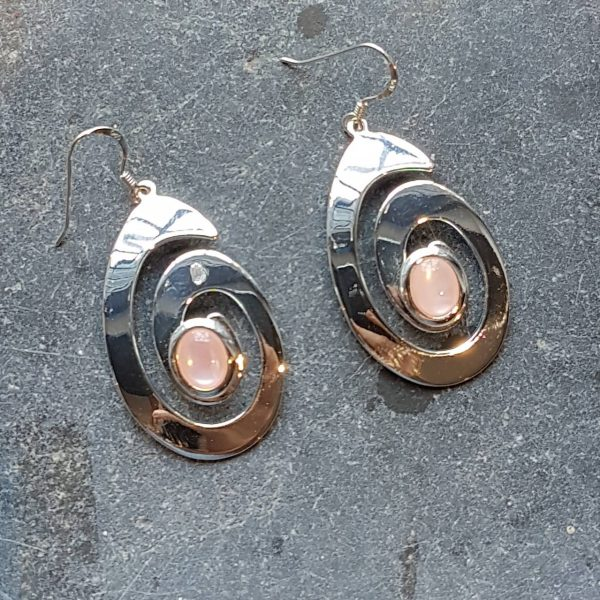 Celtic Spiral Mother of Pearl Earrings