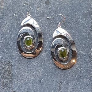 Celtic Spiral Jade Nephrite Earrings