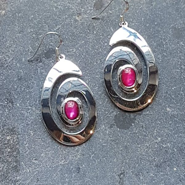 Celtic Spiral Pink Avalone Earrings