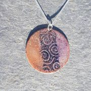 Half&Half Pendant-Orange n' Blue
