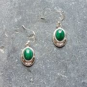 Celtic Malachite Earrings