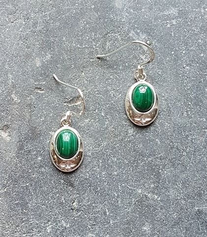 Celtic Malachite Earrings