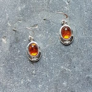 Celtic Amber Earrings