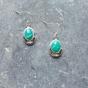 Celtic Russian Amazonite Earrings