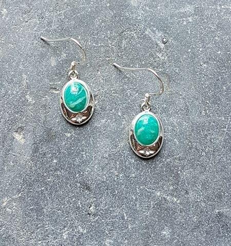 Celtic Russian Amazonite Earrings
