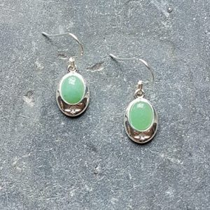 Celtic Adventurine Green Earrings