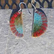 Shell Earrings-Turquoise