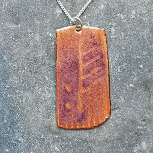February Ogham Pendant-transparent