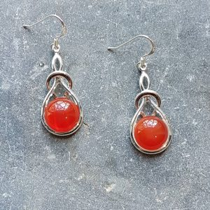 Celtic Knot Carnelian Earrings