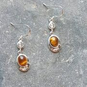 Celtic Diamond Tigers Eye Earrings