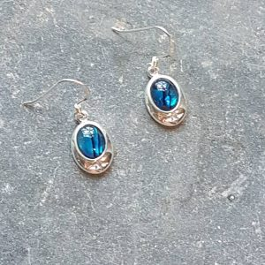 Celtic Blue Avalone Earrings