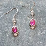 Celtic Diamond Pink Avalone Earrings