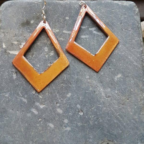 Celtic Golden Hanging Earrings
