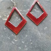 Garnet Celtic Hanging Earrings Large
