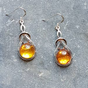 Celtic Knot Amber Earrings