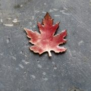 Red Leaf Brooch build your own