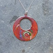 Loop Pendant-purple swirl