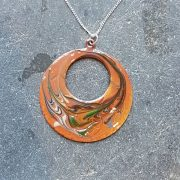 Loop Pendant-nectarine mix