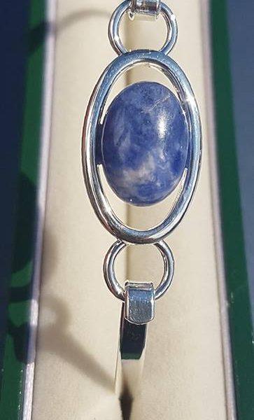 Soladite Oval Silver Bangle