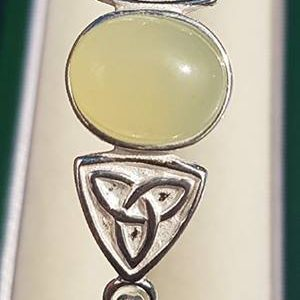 New Jade Silver Trinity Knot Bangle