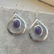 Celtic Loop Lapis Lazuly Earrings