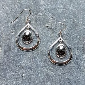 Celtic Loop Hematine Earrings