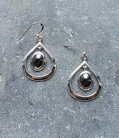 Celtic Loop Hematine Earrings