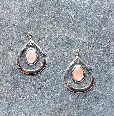 Celtic Loop Mother of Pearl Earrings