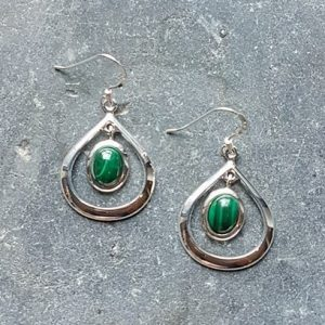 Celtic Loop Malachite Earrings