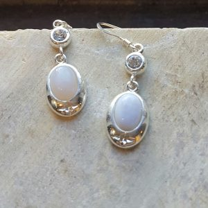 Celtic Diamond Blue Lace Agate Earrings