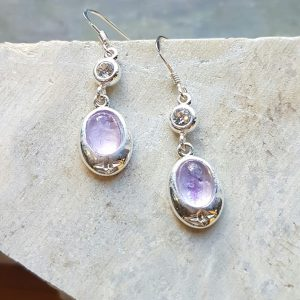 Celtic Diamond Light Amethyst Earrings