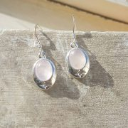 Celtic Rose Quartz Earrings