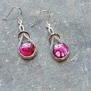 Celtic Knot Pink Avalone Earrings