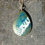 Blue Ogham Drop