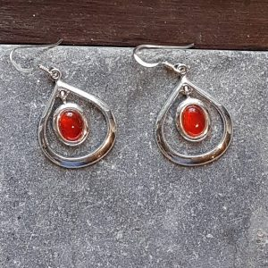 Celtic Loop Carnelian Earrings
