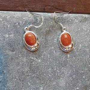 Celtic Gold Stone Earrings