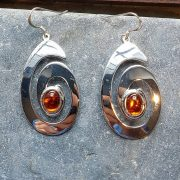 Celtic Spiral Amber Earrings
