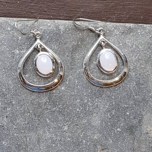 Celtic Loop Blue Lace Agate Earrings