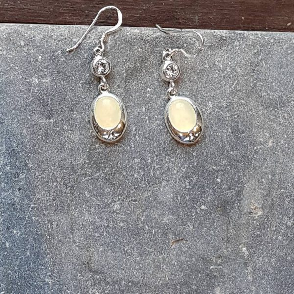 Celtic Diamond New Jade Earrings