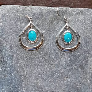Celtic Loop Turquoise Earrings
