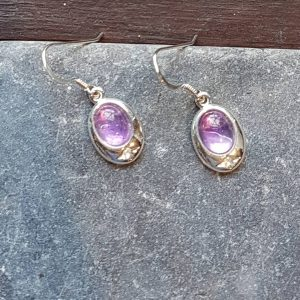 Celtic Amethyst Earrings