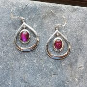 Celtic Loop Pink Avalone Earrings