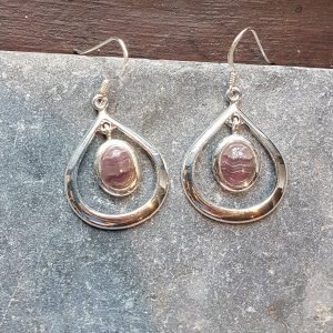 Celtic Loop Flourite Rainbow Earrings