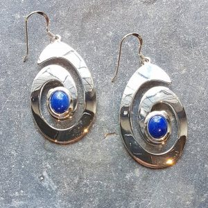 Celtic Spiral Lapis Lazuly Earrings
