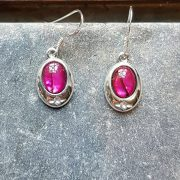 Celtic Pink Avalone Earrings
