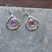 Celtic Loop Amethyst Earrings
