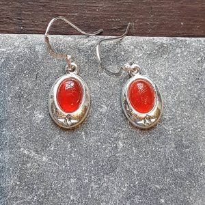 Celtic Carnelian Earrings