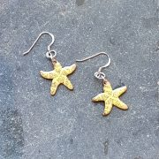 Starfish Earrings-yellow