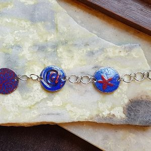 Enamel Bracelet-royal blue collection